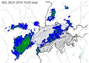 Radar zeigt Schnee